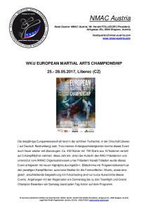 WKU EUROPEAN MARTIAL ARTS CHAMPIONSHIP , Liberec (CZ)