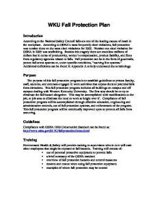 WKU Fall Protection Plan