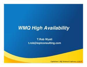 WMQ High Availability