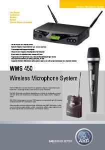 WMS 450 Wireless Microphone System