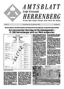 Woche 37 Donnerstag, den 15. September 2005 Jahrgang 13