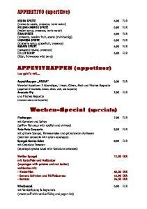 Wochen-Special (specials)