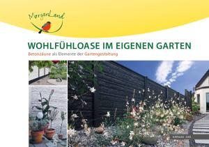Wohlfühloase im eigenen Garten Betonzäune als Elemente der Gartengestaltung