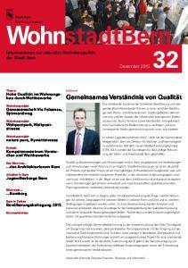 WohnstadtBern Informationen zur aktuellen Wohnbaupolitik der Stadt Bern