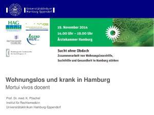 Wohnungslos und krank in Hamburg