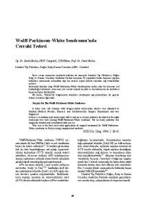 Wolff-Parkinson-White Sendromu'nda Cerrahi Tedavi