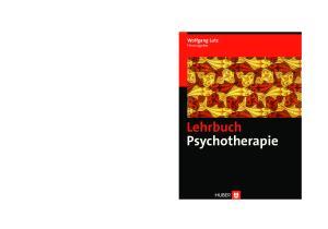 Wolfgang Lutz Herausgeber. Lehrbuch Psychotherapie