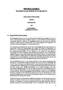 #WolfsburgDigital Eine Initiative der Stadt Wolfsburg und der Volkswagen AG