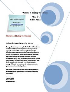 Women: A Strategy for Success