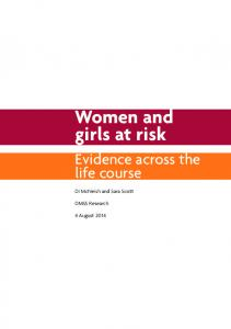 Women and girls at risk