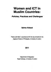 Women and ICT in Muslim Countries: