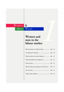 Women and men in the labour market
