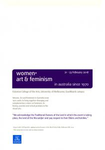 women* art & feminism