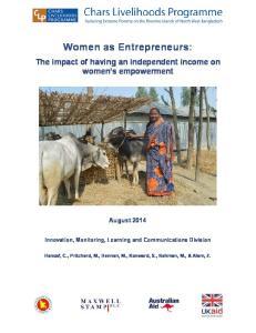 Women as Entrepreneurs: