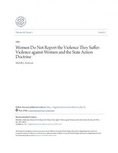 Women Do Not Report the Violence They Suffer: Violence against Women and the State Action Doctrine
