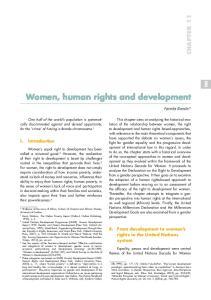 Women, human rights and development
