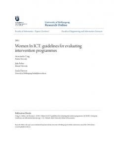 Women In ICT: guidelines for evaluating intervention programmes