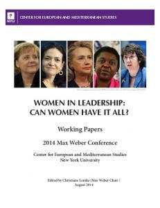 WOMEN IN LEADERSHIP: CAN WOMEN HAVE IT ALL?