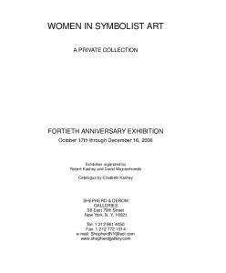 WOMEN IN SYMBOLIST ART