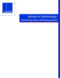 Women in Technology: Maximizing Talent, Minimizing Barriers
