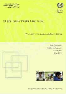 Women in the labour market in China