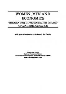 WOMEN, MEN AND ECONOMICS