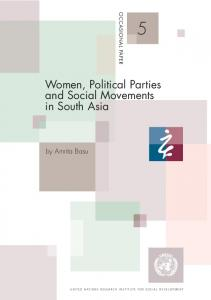 Women, Political Parties and Social Movements in South Asia
