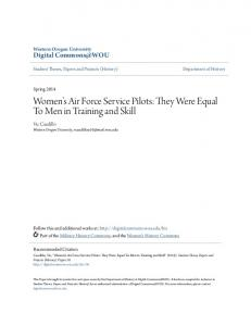 Women s Air Force Service Pilots: They Were Equal To Men in Training and Skill