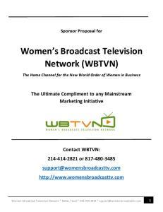 Women s Broadcast Television Network (WBTVN)