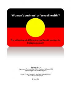 Women s business or sexual health?