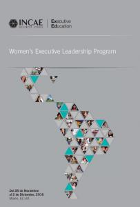 Women s Executive Leadership Program