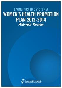 WOMEN S HEALTH PROMOTION PLAN