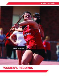 WOMEN S RECORDS. Sarah Firestone WOMEN S RECORDS