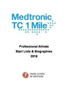 Women s Start List. USATF 1 Mile Road Championship