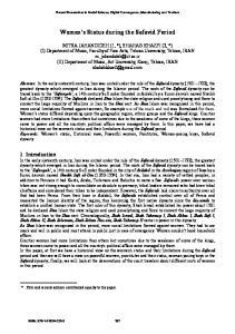 Women s Status during the Safavid Period