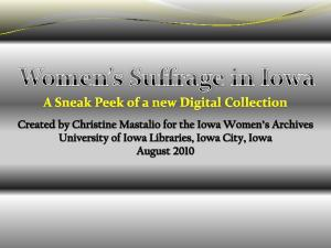 Women s Suffrage in Iowa