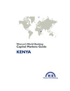 Women s World Banking: Capital Markets Guide KENYA