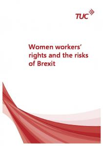 Women workers rights and the risks of Brexit
