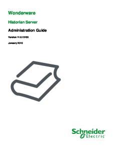 Wonderware. Historian Server. Administration Guide. Version January 2016