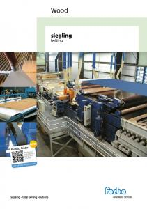 Wood. belting NEW. Product Finder. Siegling total belting solutions.  The easy way to find the right belt for your conveyor