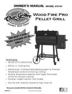 Wood Fire Pro Pellet Grill