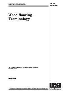 Wood flooring Terminology