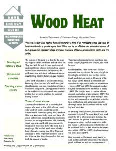 WOOD HEAT TECHNIQUES TACTICS & TIPS