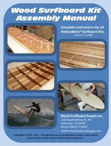 Wood Surfboard Kit Assembly Manual