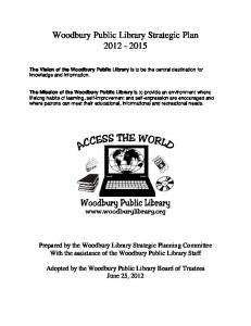 Woodbury Public Library Strategic Plan