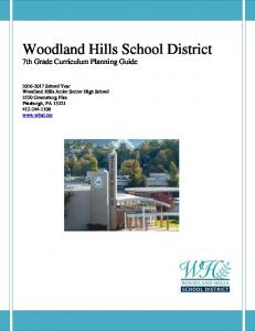 Woodland Hills School District 7th Grade Curriculum Planning Guide
