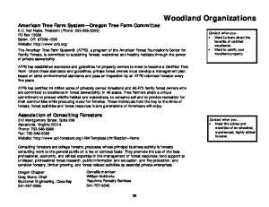 Woodland Organizations