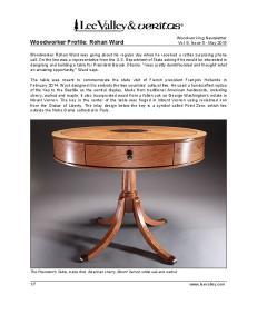 Woodworker Profile: Rohan Ward