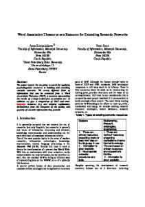 Word Association Thesaurus as a Resource for Extending Semantic Networks