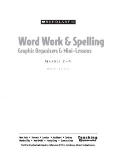 Word Work & Spelling Graphic Organizers & Mini-Lessons